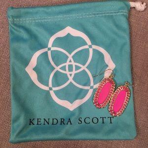 Kendra Scott Pink and Gold Dalya Earrings
